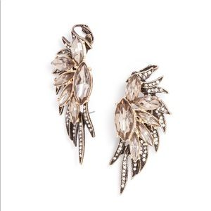 Baublebar NEW Phoenix Wing Ear Cuffs Gray